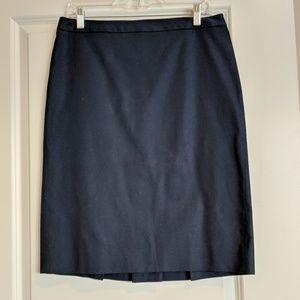 J.Crew Pleated Pencil Skirt, size 8